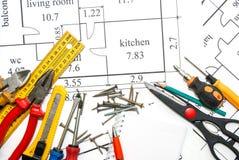 Plano dos apartamentos Fotografia de Stock Royalty Free