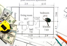 Plano dos apartamentos Imagem de Stock