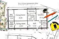 Plano dos apartamentos Foto de Stock Royalty Free