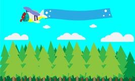 Plano dos desenhos animados Fotos de Stock Royalty Free