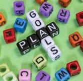 Plano dos objetivos Imagens de Stock