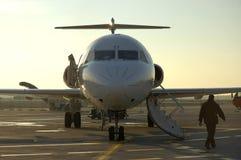 Plano e aeroporto 6 Fotografia de Stock Royalty Free
