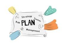 Plano e conceito do negócio da reunião, sessão de reflexão Imagens de Stock Royalty Free