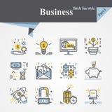 Plano e linha do negócio Fotos de Stock