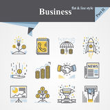 Plano e linha do negócio ilustração royalty free