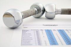 Plano e peso do exercício Imagem de Stock Royalty Free