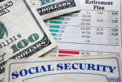 Plano e segurança social fotografia de stock royalty free
