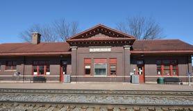 Plano-Eisenbahn-Depot Lizenzfreie Stockfotos