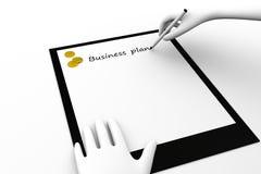 Plano empresarial Foto de Stock Royalty Free