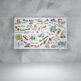 Plano empresarial Imagens de Stock