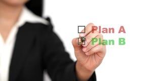 Plano empresarial B Imagens de Stock
