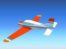 Plano en el cielo Foto de archivo libre de regalías