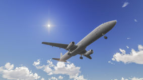 Plano en el cielo Fotos de archivo libres de regalías