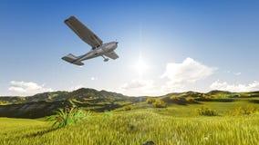 Plano en el cielo Imagen de archivo libre de regalías