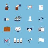 Plano fijado iconos de las elecciones ilustración del vector
