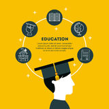 Plano graduado do estudante ilustração royalty free