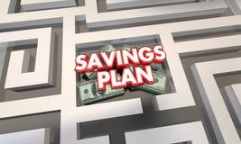 Plano Maze Budget Grow Money Wealth das economias Imagens de Stock Royalty Free