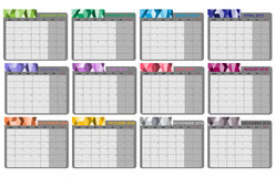 Plano mensal 2016 Foto de Stock