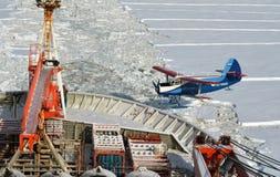 Plano AN-2 na Antártica do leste fotos de stock royalty free