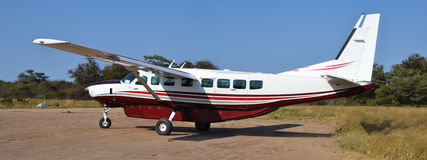 Plano no delta do okavango Imagens de Stock Royalty Free