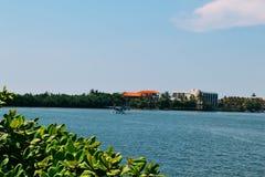Plano no rio Bentota Sri Lanka foto de stock royalty free