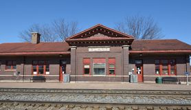 Plano Railroad Depot. This is a Winter picture of the Plano Amtrak Station in Plano, Illinois.  The station opened in 1913 and is one of the smallest in the Royalty Free Stock Photos