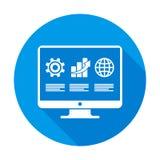 Plano redondo de Infographic en azul ilustración del vector