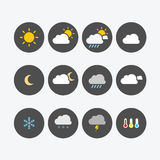 Plano simple de los iconos del tiempo Imagenes de archivo