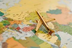 Plano sobre el Oriente Medio Imagen de archivo