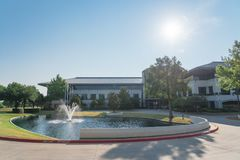 Corporate headquarters campus of Keurig Dr Pepper in Plano, Texa. PLANO, TX, USA-JULY 7, 2018: Corporate headquarters campus of Keurig Dr Pepper. American soft stock photography