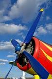 Plano vermelho e amarelo Imagens de Stock Royalty Free