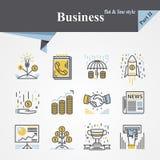 Plano y línea del negocio libre illustration