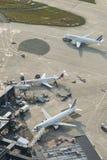 Planos aéreos de Air France da imagem em terminais de Orly Airport Fotos de Stock