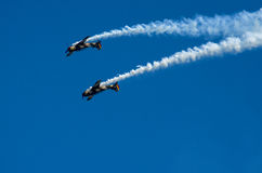 Planos acrobáticos Imagenes de archivo