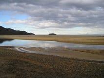 Planos da areia de Marahau imagem de stock