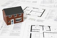 Planos da casa Imagem de Stock