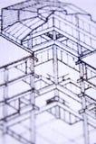 Planos da construção Imagens de Stock Royalty Free