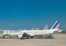Planos de Air France em Paris Foto de Stock