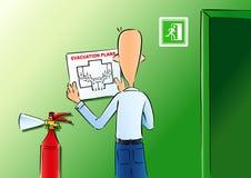 Planos de evacuação ilustração do vetor