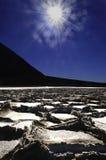 Planos de la sal de Death Valley Imagen de archivo
