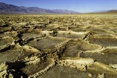 Planos de la sal de Death Valley Fotos de archivo libres de regalías