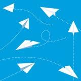 Planos de papel ilustración del vector