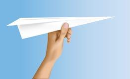 Planos de papel aprontam-se para o lançamento Imagens de Stock Royalty Free