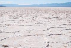 Planos de sal da paisagem, bacia de Badwater Foto de Stock