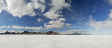 Planos de sal de Bonneville, Utá Fotografia de Stock