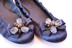 Planos del ballet con los ornamentos de cristal Imagenes de archivo