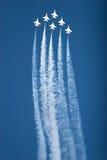 Planos do F16 Thunderbird no airshow Fotografia de Stock
