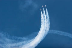 Planos do F16 Thunderbird no airshow Fotos de Stock Royalty Free
