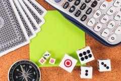 Planos e estratégias de jogo do curso Fotografia de Stock