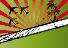 Planos e palmeiras do vôo Imagem de Stock